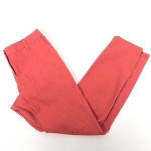Boden peach coral skinny cotton pants 6L zipper